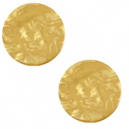 12 mm platte cabochon Polaris Elements Lively Curry yellow