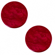 12 mm platte cabochon Polaris Elements Lively Rubino red