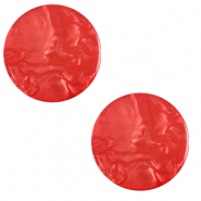 12 mm platte cabochon Polaris Elements Lively Ibisco red