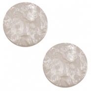 20 mm platte cabochon Polaris Elements Lively Acciaio grey