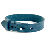 Cuoio armbanden leer 15 mm voor 20 mm cabochon Blue wing teal
