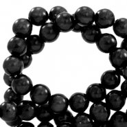 Polaris kralen rond 6 mm pearl shine Nero black