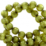 Polaris kralen rond 6 mm pearl shine Origano green