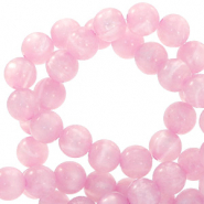 Polaris kralen rond 6 mm pearl shine Quarzo pink