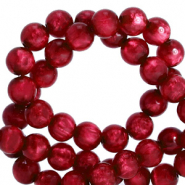 Polaris kralen rond 6 mm pearl shine Rubino red