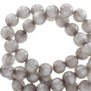 Polaris kralen rond 6 mm pearl shine Acciaio grey