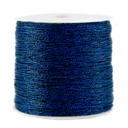 Macramé draad metallic 0.5mm Dark blue
