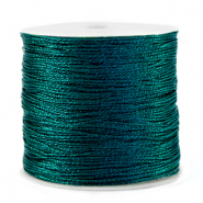 Macramé draad metallic 0.5mm Forest green