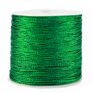 Macramé draad metallic 0.5mm Irish green