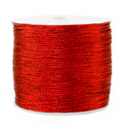 Macramé draad metallic 0.5mm Deep red