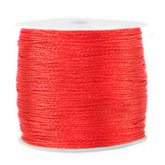 Macramé draad metallic 0.5mm Fiery red