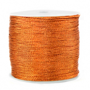 Macramé draad metallic 0.5mm Rust orange