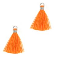 Kwastjes 1.5cm Silver-flame orange