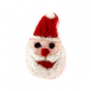 Bedel 1 oog vilt kerstman Red-white