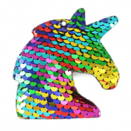 Bedel 1 oog pailletten unicorn Multicolour rainbow