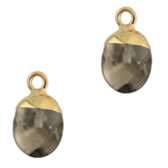 Natuursteen hangers Black diamond-gold