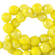 4 mm natuursteen kralen rond facet geslepen Ceylon yellow-AB coating