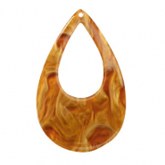 Resin hangers druppel 57x36mm Golden brown