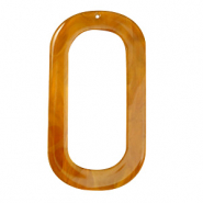 Resin hangers langwerpig ovaal 56x30mm Golden brown