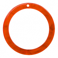 Resin hangers rond 35mm Tangerine tango orange