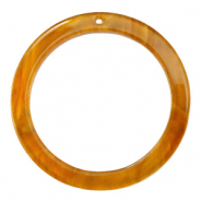 Resin hangers rond 35mm Golden brown