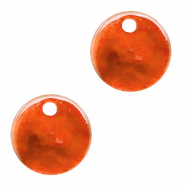 Resin hangers rond 12mm Tangerine tango orange
