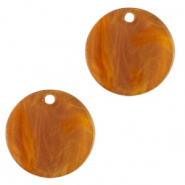 Resin hangers rond 12mm Golden brown