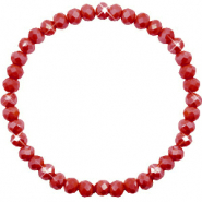 Top facet armbandjes 6x4mm Chillipeper red-pearl shine coating