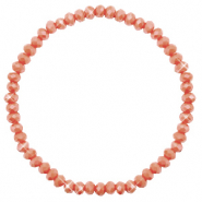 Top facet armbandjes 4x3mm Burnt orange-pearl shine coating