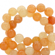 Half edelsteen kralen rond 6mm agate Orange opal