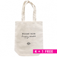 Combi deal 3 | Canvas tas 4 + 1 gratis