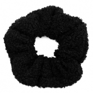 Scrunchies haarelastiek teddy Black