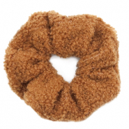 Scrunchies haarelastiek teddy Brown