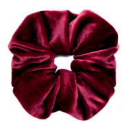 Scrunchies haarelastiek velvet Port red