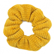 Scrunchies haarelastiek corduroy Ochre yellow