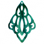 Resin hangers barok diamant Ocean green