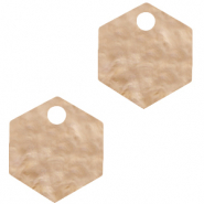 Resin hangers hexagon Light semolina beige