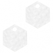 Resin hangers hexagon Bright white