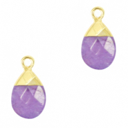 Natuursteen hangers Purple-gold