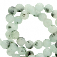 4 mm natuursteen kralen Grayed jade green