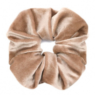 Scrunchies haarelastiek velvet Light brown
