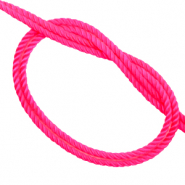 Trendy koord geweven Neon pink