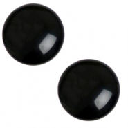 20 mm classic Cabochon Polaris Elements Mosso shiny Jet black