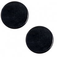 20 mm platte Cabochon Polaris Elements Lively Jet black