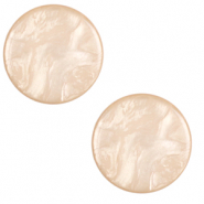 20 mm platte Cabochon Polaris Elements Lively Tan brown