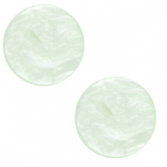 20 mm platte Cabochon Polaris Elements Lively Ash green