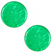 12 mm platte Cabochon Polaris Elements Lively Bright green