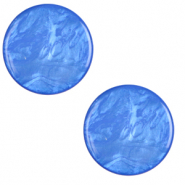 20 mm platte Cabochon Polaris Elements Lively Princess blue