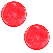 12 mm platte Cabochon Polaris Elements Lively Flame scarlet red