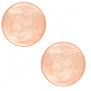 20 mm platte Cabochon Polaris Elements Lively Peachy orange